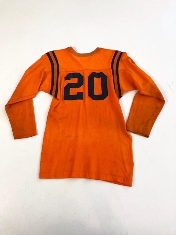 1940's Wilson Orange Rayon Sports Jersey S