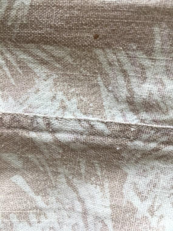 1940s Abstract Print Linen Men's Shirt XL - image 10
