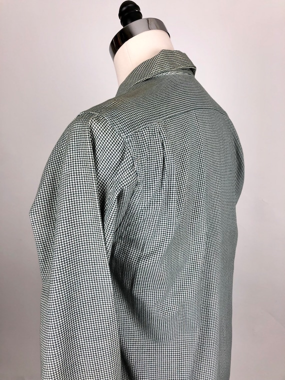 1950s Houndstooth Dunhill Cotton Loop Collar Shir… - image 7