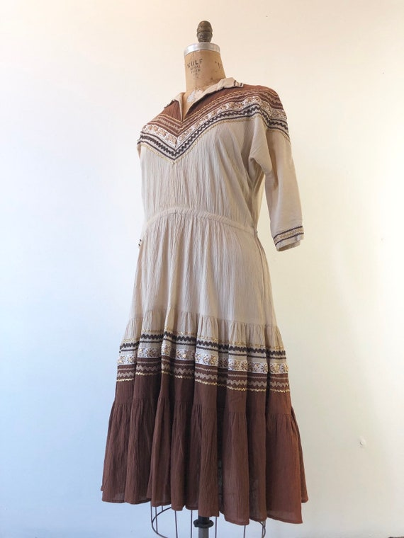 1950's Western Square Dancing Patio Dress M