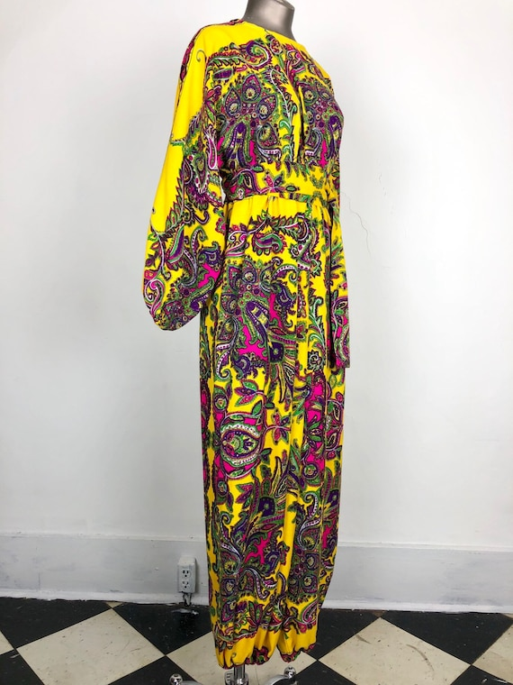 KILLER 70s Paisley Jumpsuit M