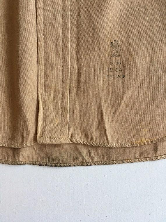 1940s Rayon Gabardine Western Shirt M - image 7
