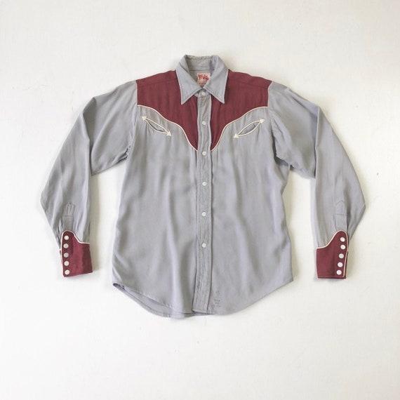 KILLER 1940's Prior Gabardine Western Shirt S