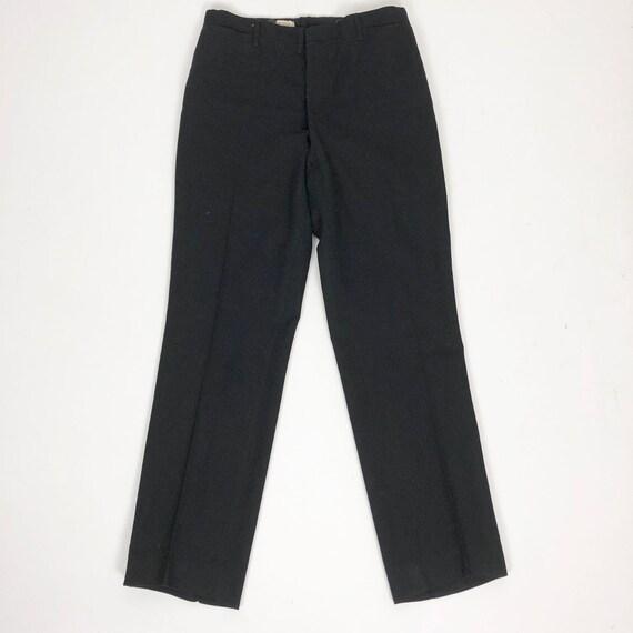 "1930's Black Wool Tuxedo Pants 29"" Waist"