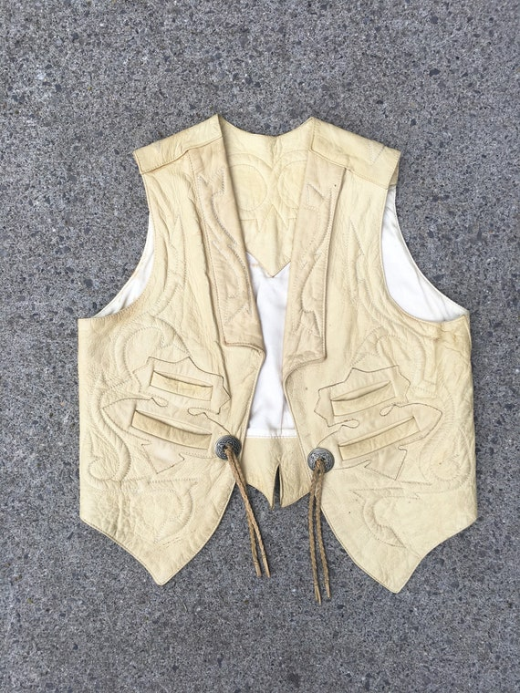 KILLER 70s North Beach Western Leather Vest L
