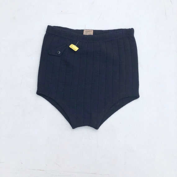 Deadstock 1940s Navy Wool Swim Briefs M