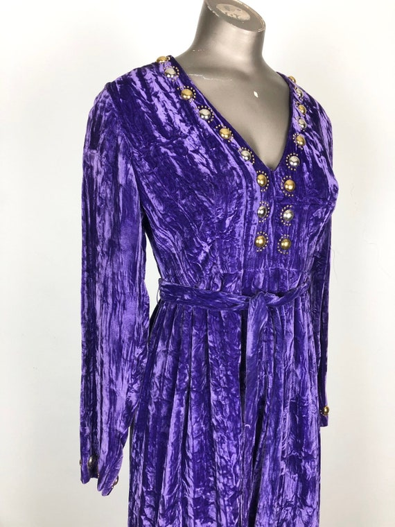 AMAZING 1960's Purple Crushed Velvet Studded Jumps