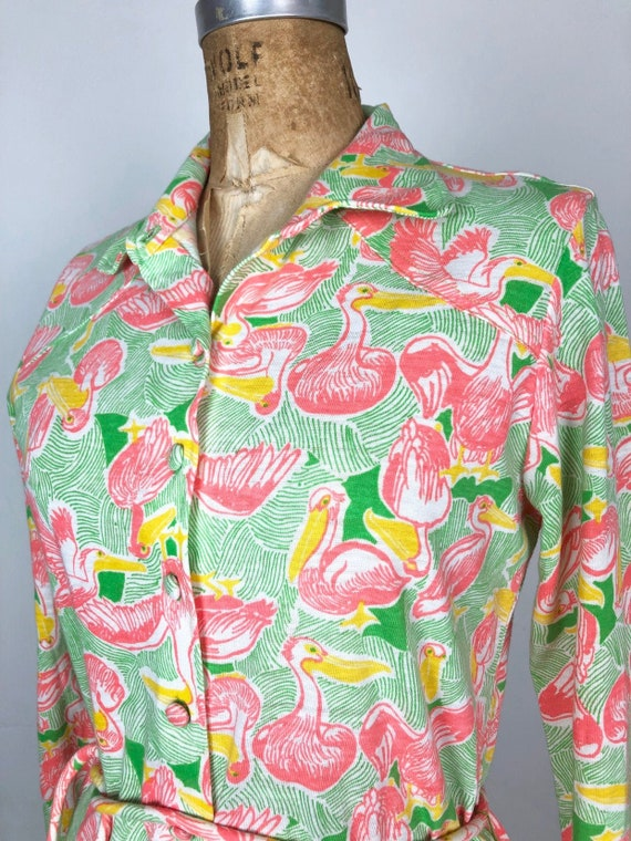 DEADSTOCK 1960s Lilly Pulitzer Pelican Print Dress