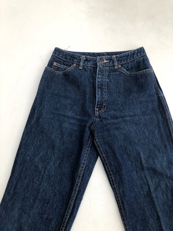 1980s Calvin Klein High Waisted Dark Blue Denim J… - image 3