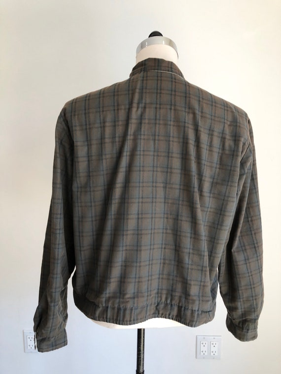 1950's Plaid Cotton Reversible Ricky Jacket M - image 3