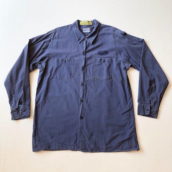 1970's Clayton Cotton Work Shirt XL