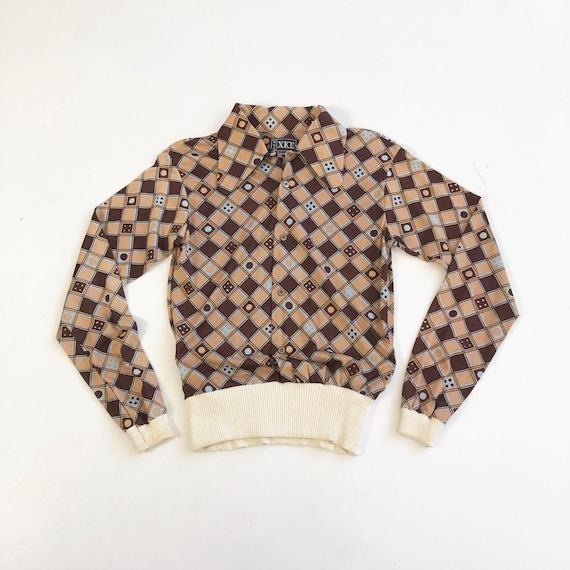 KILLER 1970's BVD Print Jersey Shirt Jac S