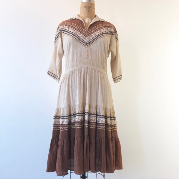 1950's Western Square Dancing Patio Dress M - image 2