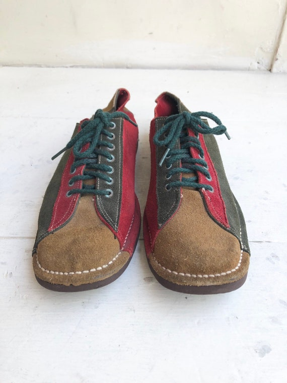 ADORABLE 1960's Suede Oxford Shoes 8