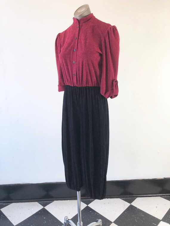 ADORABLE 1970's Terry Cloth Two Tone Jumpsuit S