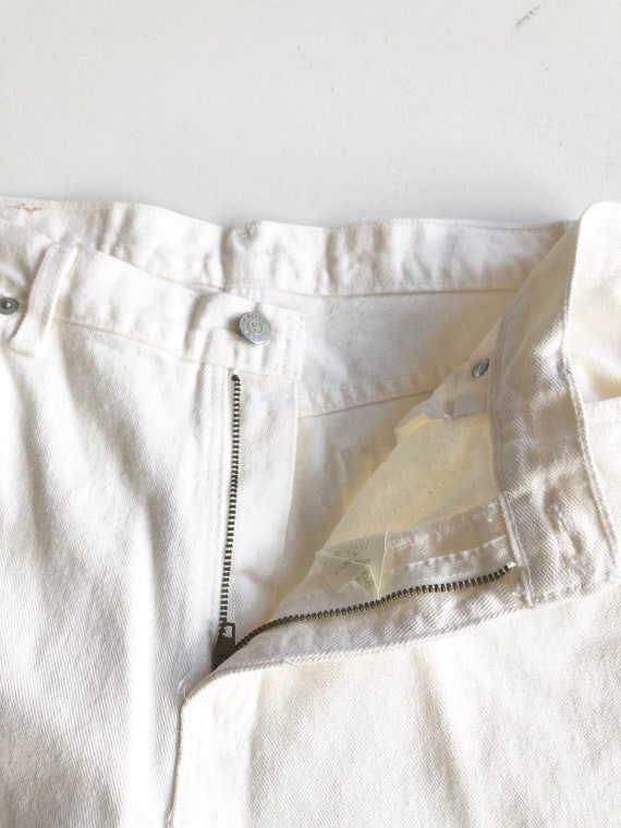 """1980s Faded Glory White High Rise Jeans 30"""" Waist - image 5"""