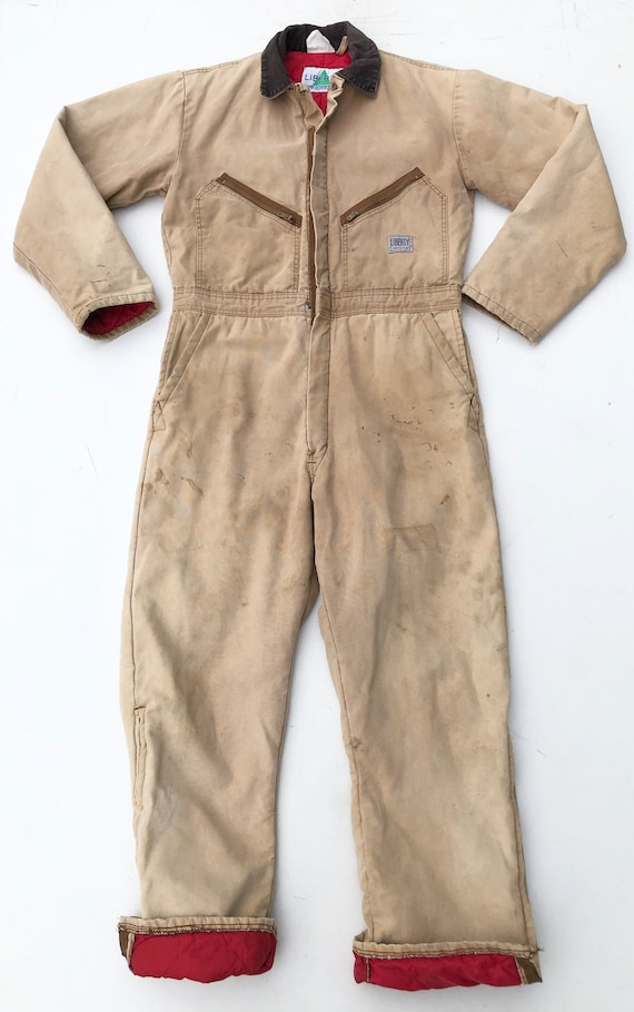 1970s Liberty Insulated Duck Canvas Coveralls L