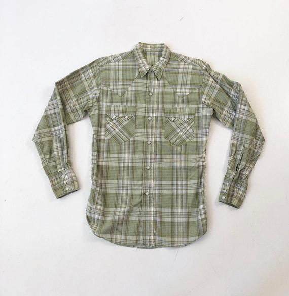 NICE 1950's Diamond Snap Western Shirt S - image 1