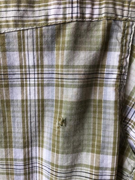 NICE 1950's Diamond Snap Western Shirt S - image 7