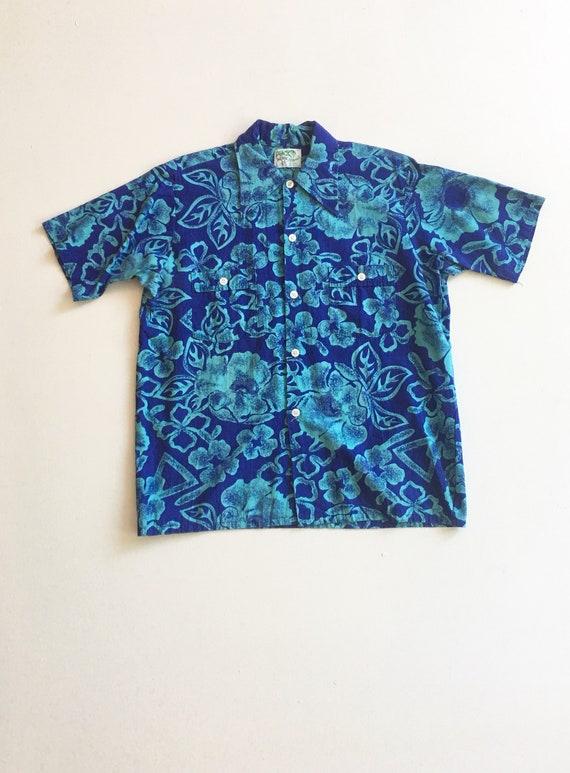 1950s Aloha Cotton/Rayon Hawaiian Shirt M