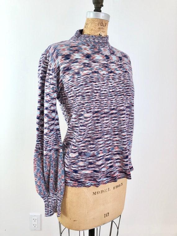1960s Montgomery Ward Space Dye Knit Turtleneck M