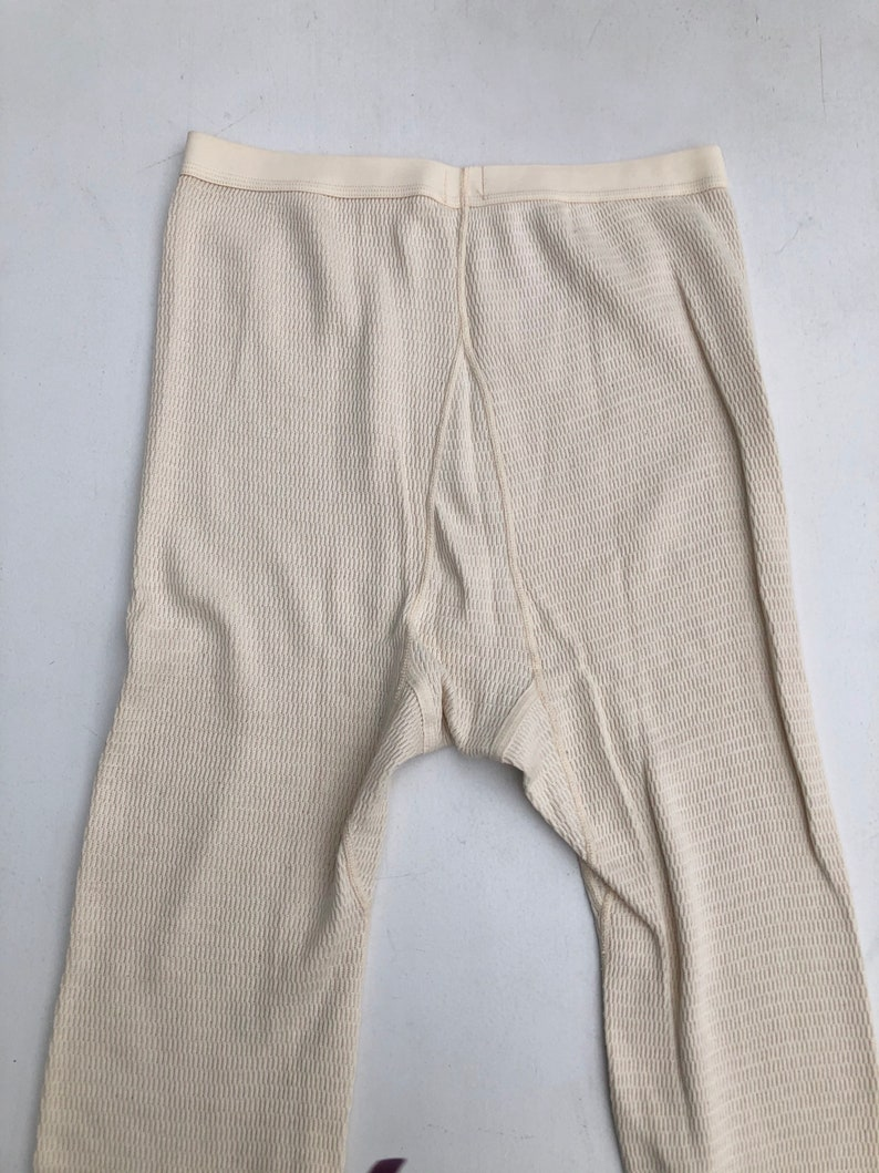 1970s Cotton Thermal Long Johns L