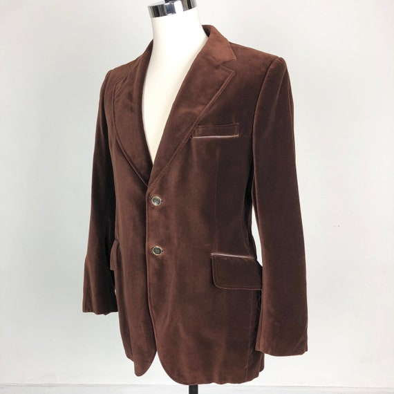 1970s Cortefiel Brown Velvet Jacket L
