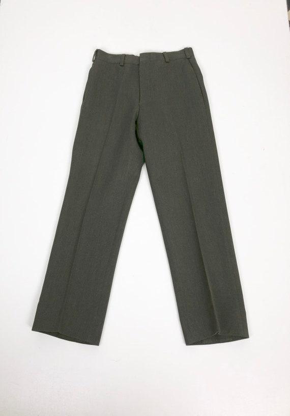 "60's USMC Whipcord Wool Trouser 32"" Waist"