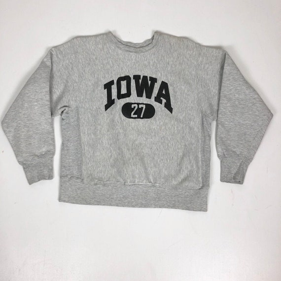 1970s Champion Reverse Weave Grey Iowa Sweatshirt