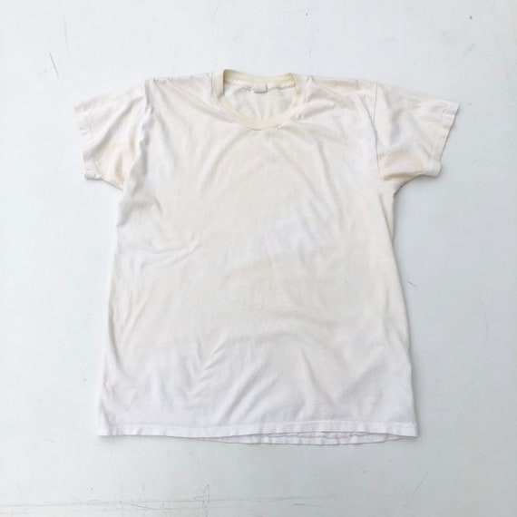 1960's Jockey White Power Knit Tshirt M