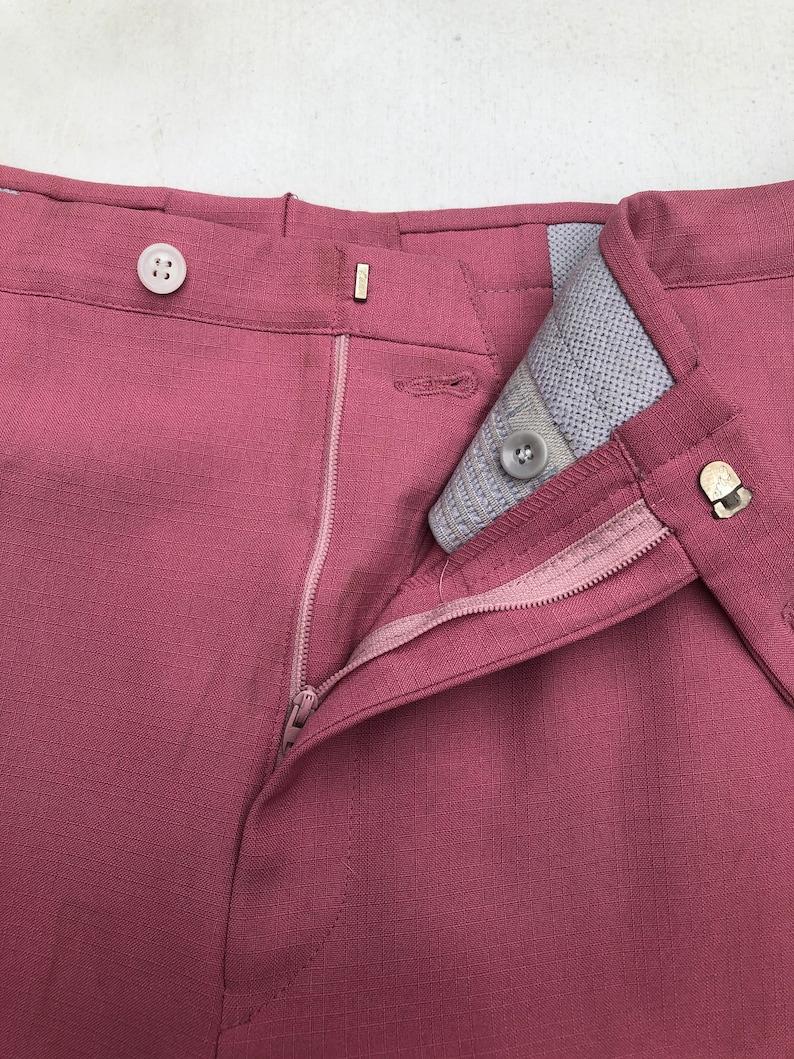 1960\u2019s Pink Sansabelt Jaymar Ruby Trousers 35\u201d