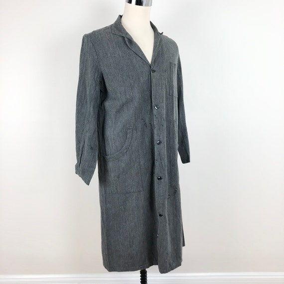 1940s French Atelier Cotton Work Coat M L