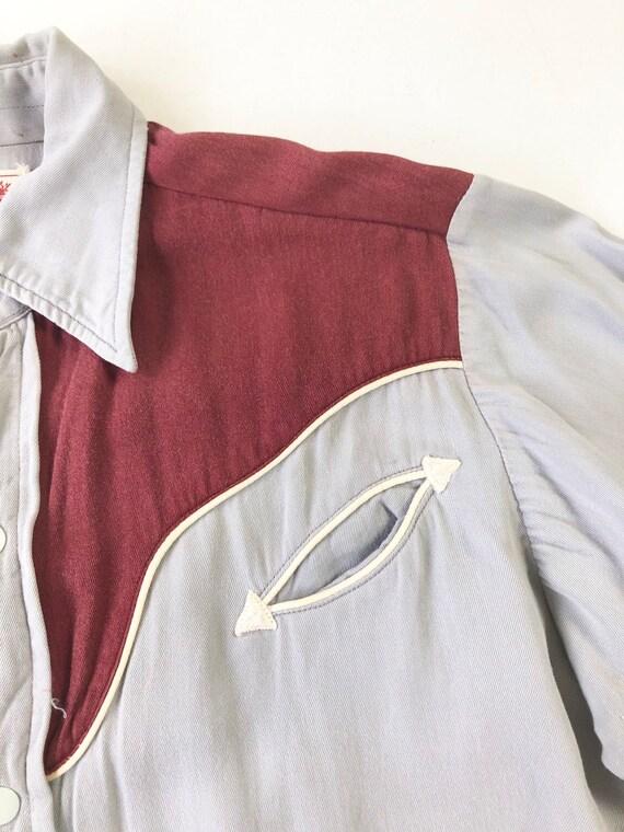 KILLER 1940's Prior Gabardine Western Shirt S - image 2