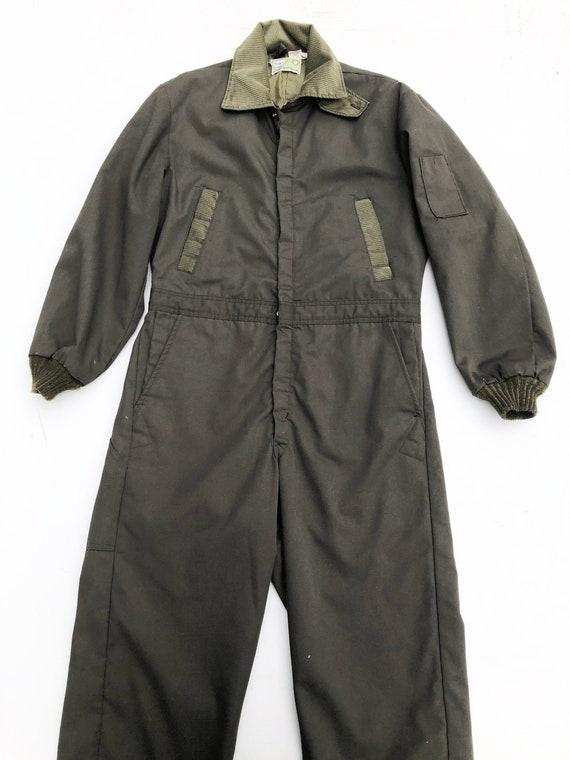 1970's Sears Green Insulated Coveralls M