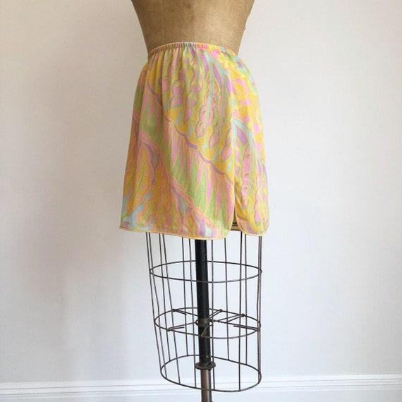 CUTE 1960's Psychedelic Half Slip Mini Skirt S M