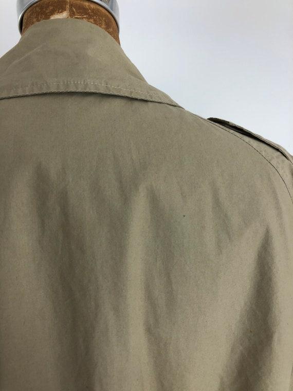 1980s Ralph Lauren Classic Khaki Trench Coat M - image 8