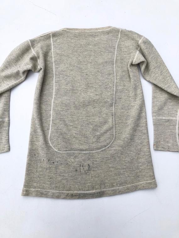 1940s Wool Knit Thermal Long Sleeve Shirt S - image 6