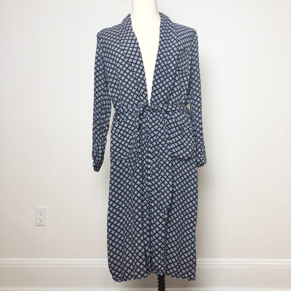 1940's Printed Cold Rayon Bath Robe M