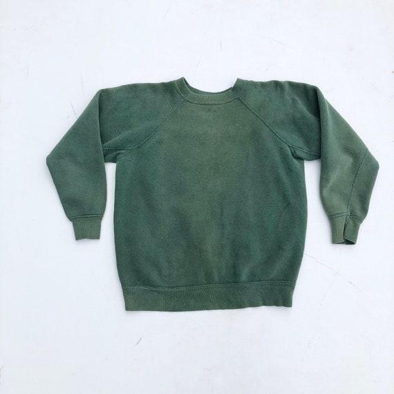 1960s Green Cotton Sweatshirt S