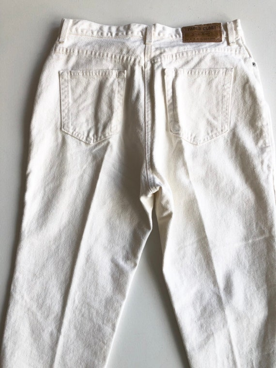 """1980s Faded Glory White High Rise Jeans 30"""" Waist - image 4"""