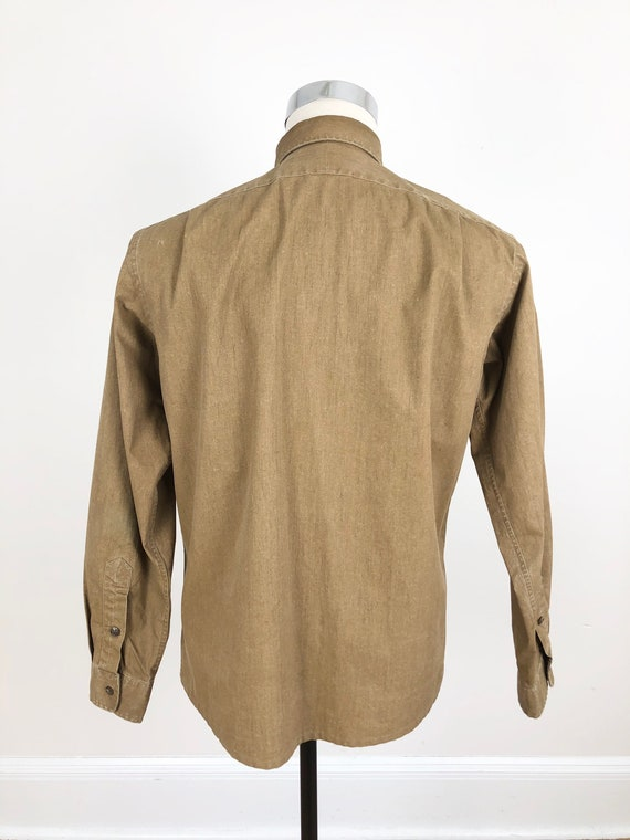1980s Polo Ralph Lauren Waxed Canvas Shirt M - image 4