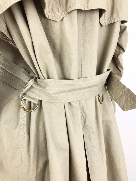 1980s Ralph Lauren Classic Khaki Trench Coat M - image 6