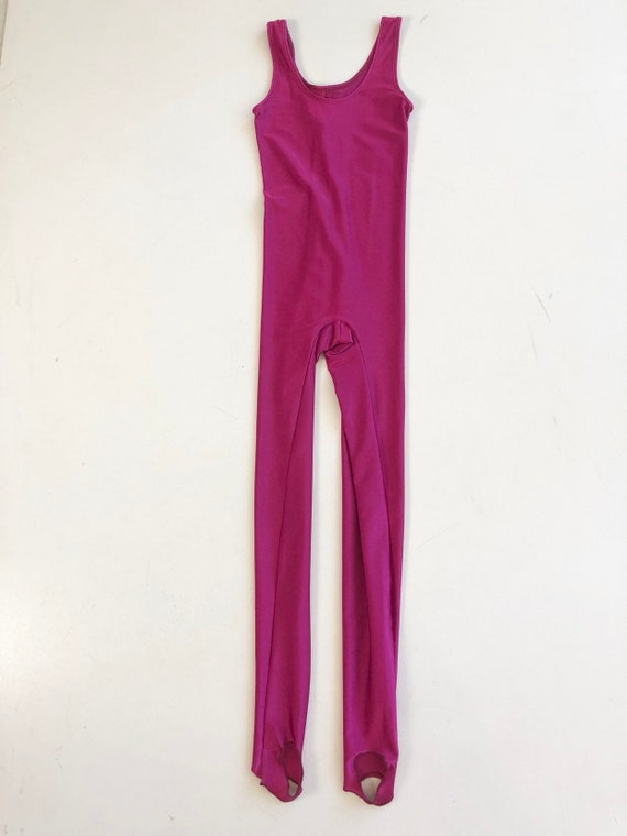 HOT 1980s Pink Spandex Catsuit S