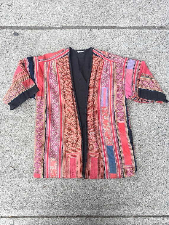 Incredible Embroidered Hmong Jacket M