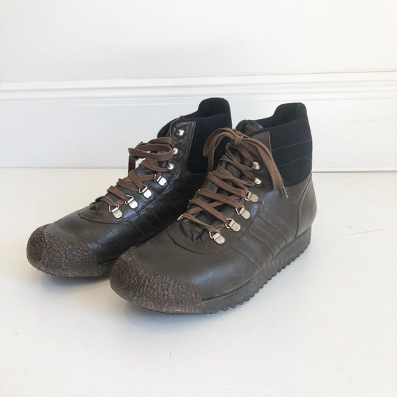 AMAZING 1970s Adidas Brown Leather Hiking Boots 7.