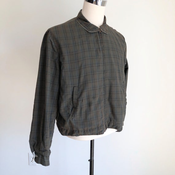 1950's Plaid Cotton Reversible Ricky Jacket M - image 1