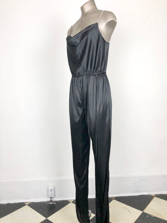 HOT 70s Climax Sexy Rhinestone Jumpsuit S