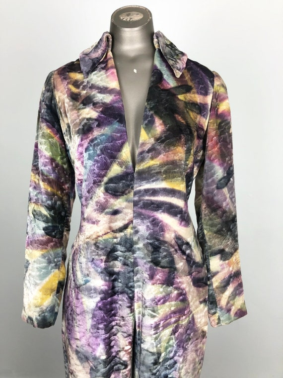 PSYCHEDELIC Sexy 1970s Tie Dye Velvet Beaded Jumps