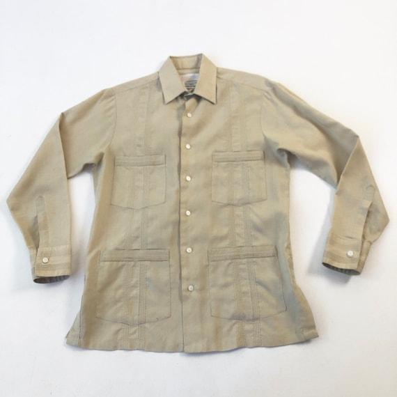 1980s Paco Rabanne Long Sleeved Guayabera S