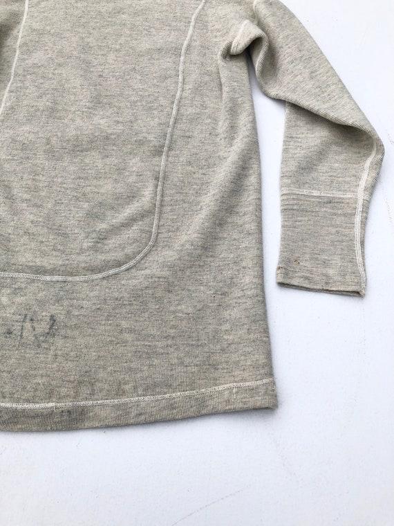 1940s Wool Knit Thermal Long Sleeve Shirt S - image 8